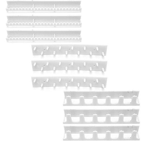 cuigu ganchos de almacenamiento para joyas soporte de montaje en pasta adhesiva gancho–Mallas de ornamentos, plástico, blanco, medium