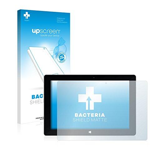 upscreen Antibakterielle Entspiegelungs-Schutzfolie kompatibel mit TrekStor SurfTab Wintron 10.1 (Volks-Tablet) - Anti-Reflex Bildschirmschutzfolie matt