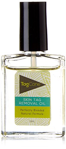 Tagcone Skin Tag Removal Oil 15ml- 100% Natural and Organic- Powerful Formula With Tea Tree Oil and Easy Apply Applicator Brush