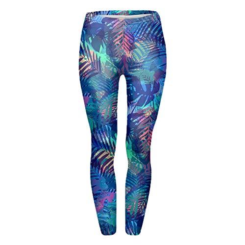 nonbranded Leggings para Mujer Leggings Pantalones con Estampado de hojas Leggings para Mujer Imprimir Talla única