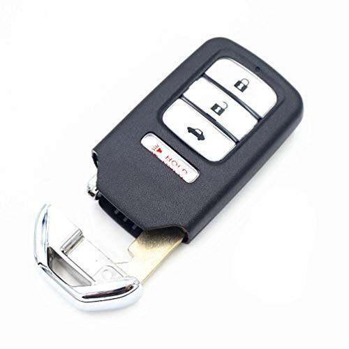 WFMJ for Honda Accord Civic CR-V CR-Z HR-V Pilot Keyless Entry 4 Buttons Remote Key Case Shell Fob