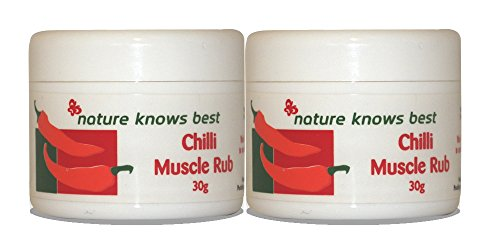 Nature Knows Best Chilli Muscle Rub 2 x 30g