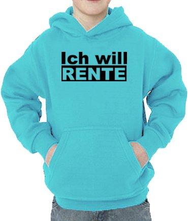 Touchlines Sweatshirt Ich Will Rente Sweat-Shirt, Turquoise, 5 Ans (110 cm) Mixte bébé