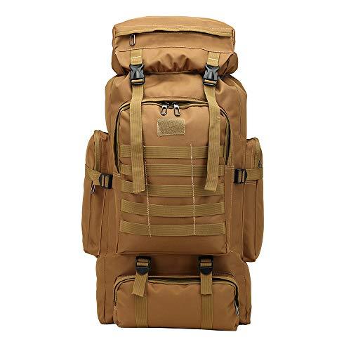 ZED- Backpacker Rucksack, Trekking-Rucksack, 80l,Damen u. Herren, Reiserucksack, Frontlader, für Weltreise, Camping, Outdoor, Backpacking, verstellbar-Khaki