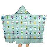 Nonebrand Toalla de playa para niños de secado rápido, con capucha, toalla de mano, tamaño grande, para viajes, camping, piscina, sillón de playa, 135,8 x 81,3 cm