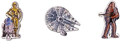 crocs Unisex Kinder Starwars Light Side 3-Pack Schuhanhänger, Mehrfarbig (-), Einheitsgröße