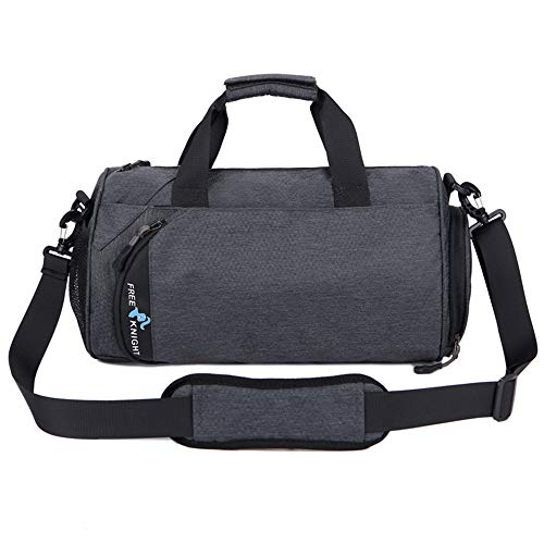 Waterproof Sports Gym Bag with Shoes Compartment Travel Duffel Bag for Men and Women,Fitness Yoga Training Bag 30L (Deep Gray, Large)
