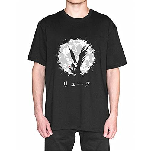 KIACIYA Death Note T-Shirt, Maglietta Anime Death Note L Lawliet Yagami Light Misa Amane Ryuk Cosplay T Shirt Casual Harajuku Manica Corta Tee Maglia Shirt Camicia Camicetta Top per Donna Uomo (2B,L)