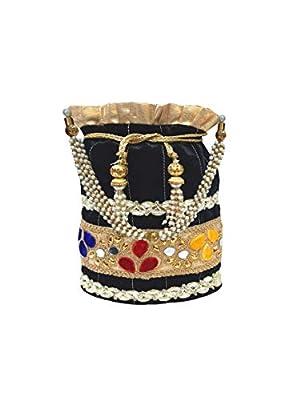 Wedding Women Purse Party Designer Bridal Clutch/Jewelry Pouch/Indian Evening Potli Handbag