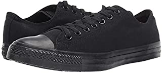 Converse Unisex Low TOP Black Mono Size 9.5 M US Women / 7.5 M US Men