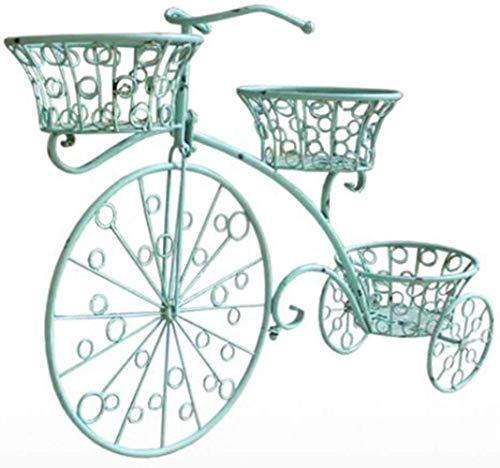 WGZ Boutique Bloemenstandaard voor op de fiets, decoratie, ijzeren mand, voor balkon, tuin, licht