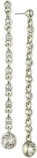 Givenchy Crystal Linear Drop Earrings Silvertone