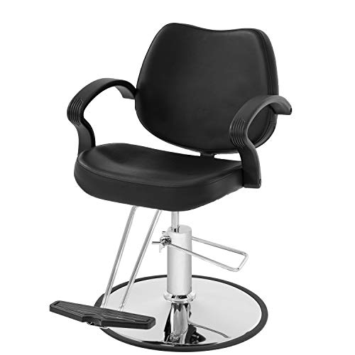BestSalon Styling Heavy Duty Hydraulic Pump Beauty Shampoo Barbering Chair for Hair Stylist Women Man, Black