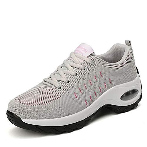 LDFANG damesschoen, sober, schommelschoenen, luchtkussens, casual sportschoenen, wandelschoenen, dikke zool, ademend