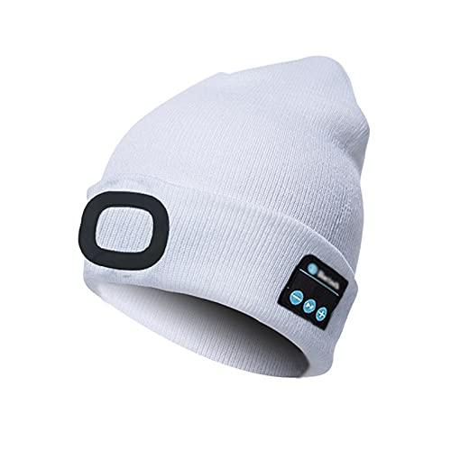 Unisex recargable Bluetooth LED Beanie Music Hat con luz regalos para hombres y mujeres D-OneSize