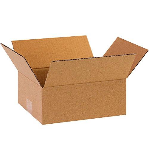 BOX USA B1084 Flat Corrugated Boxes, 10