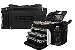 top 10 lunch box bodybuilding ISOBAG Food Cooking Lunch Box-Large Insulated Cooking Bag / Refrigerator, 12 Containers, 3 Ice Cools …