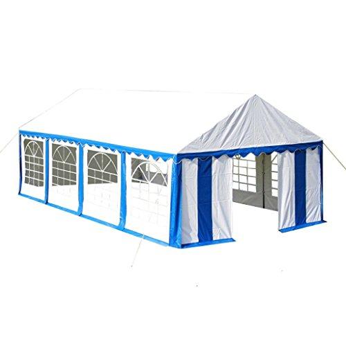 vidaXL Partyzelt PVC 4x8m Blau Bierzelt Garten Pavillon Festzelt Gartenzelt