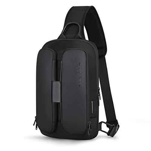 Muzee Mark Ryden Umhängetasche/USB-Ladeanschluss Große Umhängetasche / 9,7-Zoll-iPad/Wasserdicht und leicht/EIN Reiserucksack für Mädchen, Mädchen, Jungen, geeignet für Geschäftsreisen