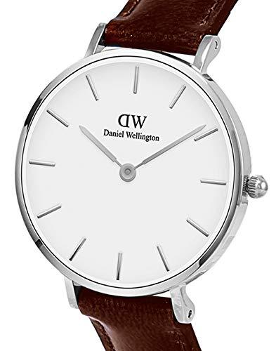 Daniel Wellington Reloj Analógico para Mujer de Cuarzo con Correa en Cuero