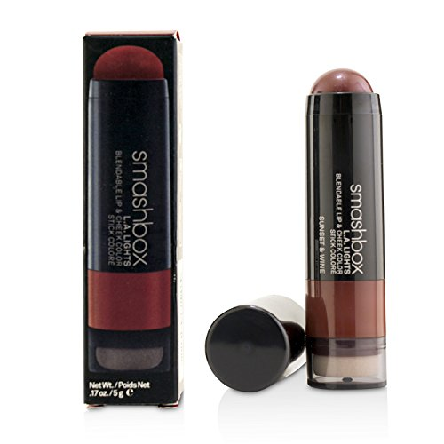 Smashbox L.A. Lights Blendable Lip and Cheek Color Lipstick, Sunset and Wine, 0.17 Fluid Ounce