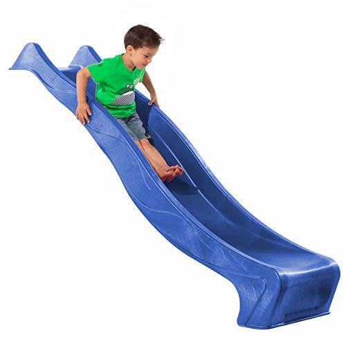 Demmelhuber Rutsche WATERSLIDE 2,30 m mit Wasseranschluss für Spielturm Wellenrutsche Gartenrutsche Kinderrutsche Anbaurutsche Wasserrutsche (Blau)