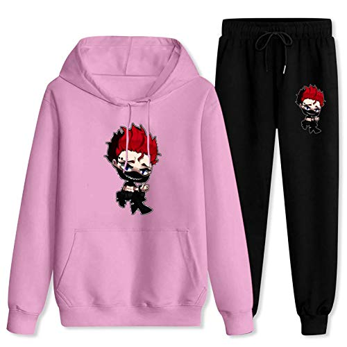 CAPINER Anime 2 Piece Set Tracksuit Unisex Zo-ra Id-eale Hoodie and Sweatpants,3D Print Fashion Jogging Suit Women-S