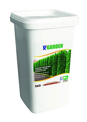 R Garden - Concime Organico per conifere, Alloro e Piante di siepe, Fertilizzante Naturale, nutriente in profondità, Facile da Usare, 1 kg