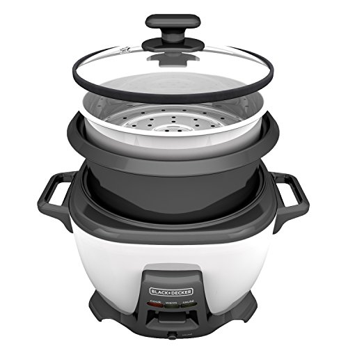 BLACK+DECKER RCS614 Rice cooker, 14-cup with Saute Function, White
