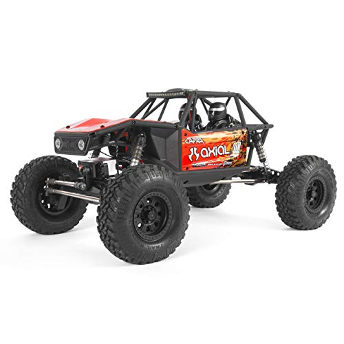 Axial Capra 1.9 Unlimited 4WD RC Rock Crawler Trail Buggy RTR with 2.4GHz 3-Channel Radio (Battery and Charger Not Included): 1/10 Scale, AXI03000T1 Red