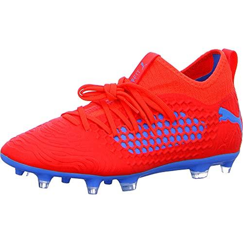 PUMA Future 19.3 Netfit FG/AG Fußballschuhe, Rot (Red Blast-Bleu Azur), 42 EU