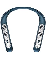 Bluenin Wearable Neckband Bluetooth 5.0 Speaker,Wireless Wearable Speakers Qualcomm apt-X CVC 8.0 Noise Cancelling 3D Sound Portable Speaker with Mic-New Upgraded