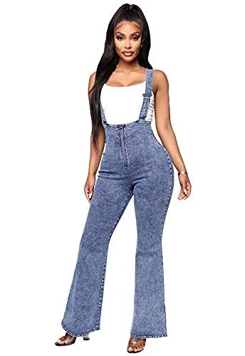 SCYDAO Pantaloni in Jeans A Campana A Campana Flash da Donna con Pantaloni in Denim Larga Elasticità A Vita Alta,Light Blue,XXL