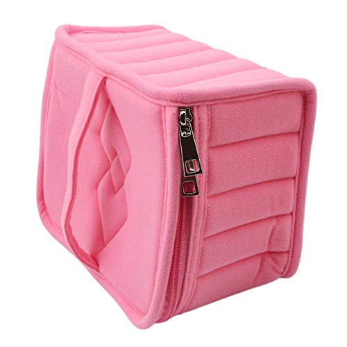 30 Grids Velvet 15ml Essential Oil Carrying Case Anti Shock Bottles Carrying Holder Makeup Storage Bag Rose