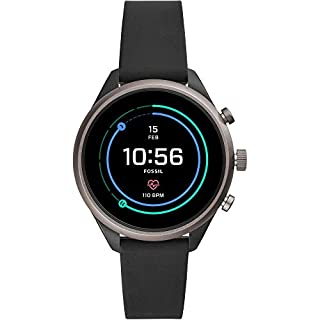 Fossil Women's Sport Heart Rate Metal and Silicone Touchscreen Smartwatch, Color: Grey, Black (FTW6024) (B07HBDTYHK) | Amazon price tracker / tracking, Amazon price history charts, Amazon price watches, Amazon price drop alerts