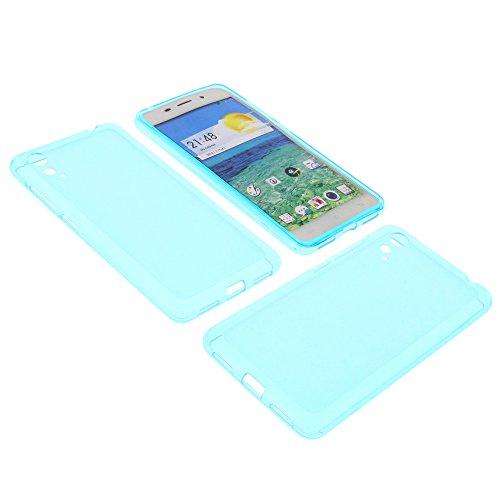 foto-kontor Tasche für Cubot X9 Gummi TPU Schutz Hülle Handytasche blau