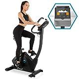 Capital Sports Evo Track Cardiobike - Fitnessfahrrad mit Trainingscomputer, Heimtrainer, Bluetooth, 32 Stufen, App-Integration, 15 kg Schwungmasse, Tablet-Halterung, Pulssensor, schwarz