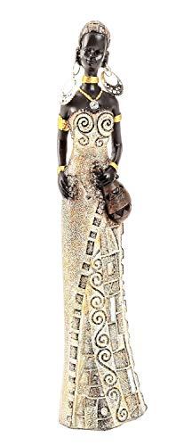 Geschenkestadl Afrikanerin mit Krug 24 cm groß afrikanische Frauen Figur Afrika