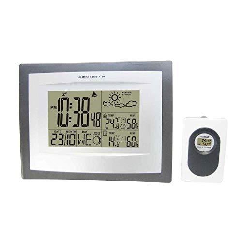 MRZ Ashcan binnen- en buitentemperatuur en Hygrometer thuisklok digitaal display draadloos weerstation