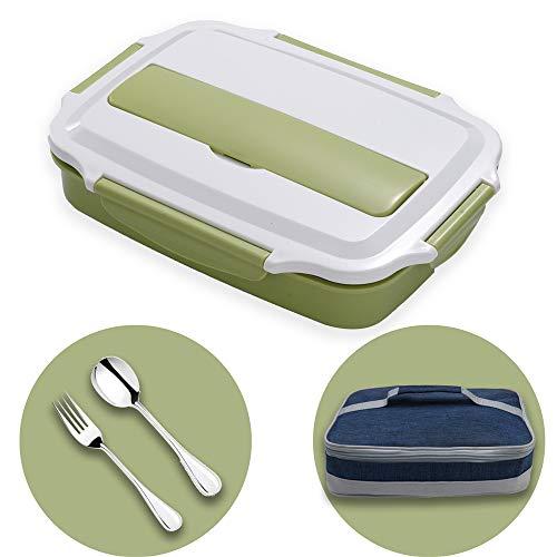 HUAFA Scatola Pranzo, Lunch Box con Posate e Borsa per Il Pranzo (Verde)
