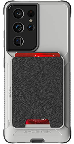 Ghostek Exec Magnetic Wallet Case for Galaxy S21 5G with Card Holder and Accessories Heavy Duty Shockproof Protection Wireless Charging Compatible Cover for 2021 Galaxy S21 (6.2 Inch) (Phantom Gray)