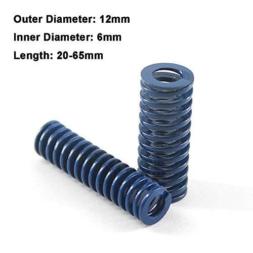 NO LOGO L-Yune, 2ST blaues Licht Last Spiral Stamping Compression Das Federaussendurchmesser 12 mm Innendurchmesser 6mm Länge 20-65mm (Größe : 12 x 6 x 20mm)
