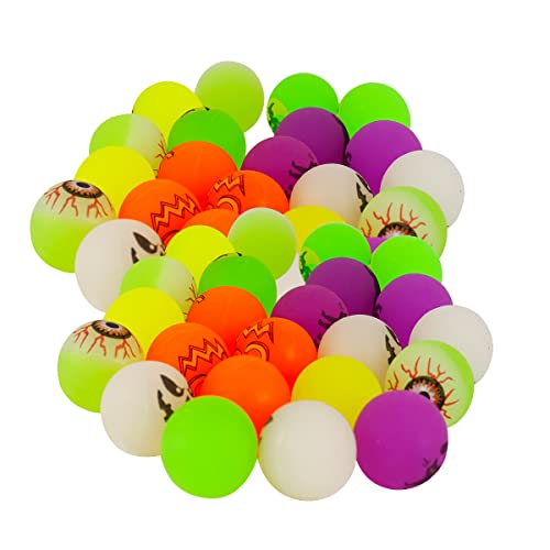 24Pcs Halloween Party Favor Supplies, 6 Theme Designs Glow in The Dark Bouncing Balls, Halloween Trick or Treating Goodie Bag Filler, Kids School Classroom Game Rewards Gifts