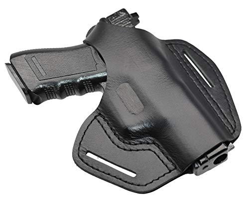 MAYMOC The Defender Pistola de Cuero Funda para cinturón Funda para Glock 17 19 22 23 25 31 32 34 37