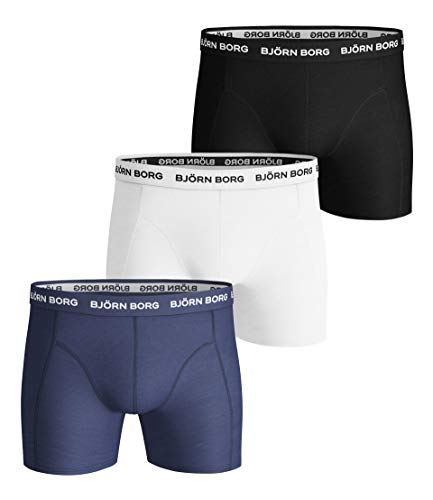 Björn Borg Herren Shorts NOOS Solids 3p Boxershorts, Blau (Blue Depths 70101), Medium (3er Pack)