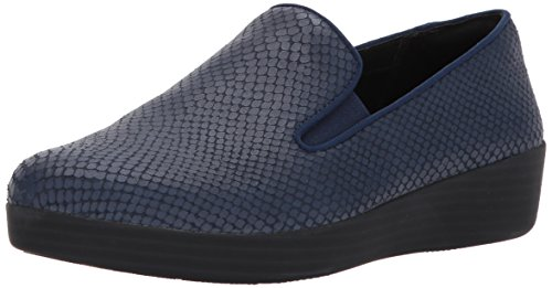 FitFlop Women's Superskate Loafer, Midnight Navy, 10 M US