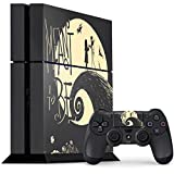 Skinit Decal Gaming Skin for PS4 Console and Controller Bundle - Officially Licensed Disney Jack and Sally Meant to Be Design