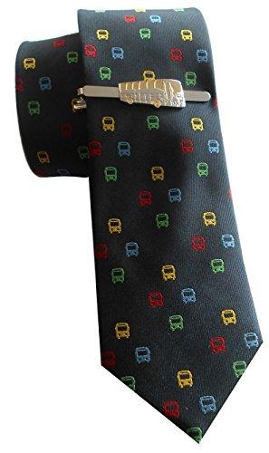 Bus Krawattennadel Seidenkrawatte Set inkl. Geschenkhülle + Box 1K Sale