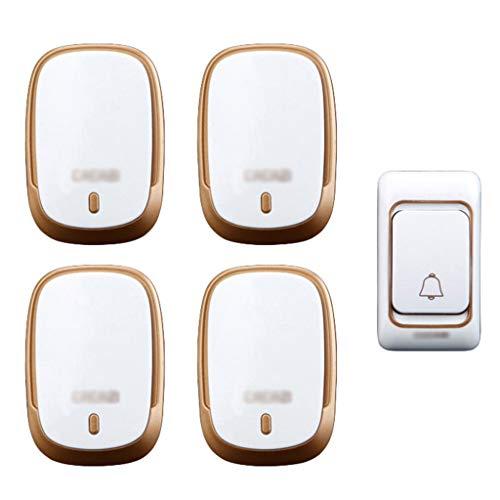 Sistema Alerta enfermera inteligente cuidador Pager Personal Care System emergencia botón llamada alarma para Tercera Edad Paciente alerta enfermera personas movilidad reducida,1 for 4-OneSize