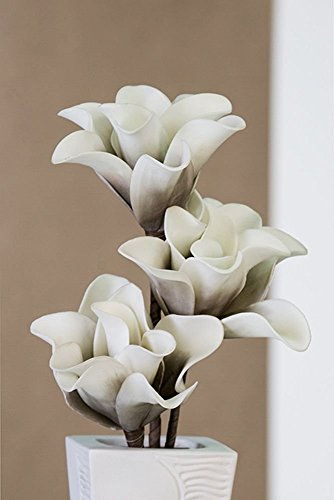 Kunstblume DekopflanzeFoam Flower 'Rumba' weiss/taube